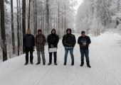 Auch im Winter wird Team gebuildet - am Hohen Bogen im bayrischen Wald