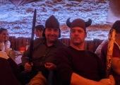 Wikinger und Ritter auf der Weihnachtsfeier 2019