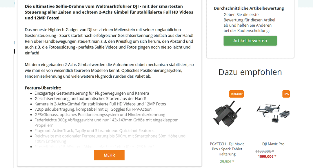 Cross-Selling im Onlineshop
