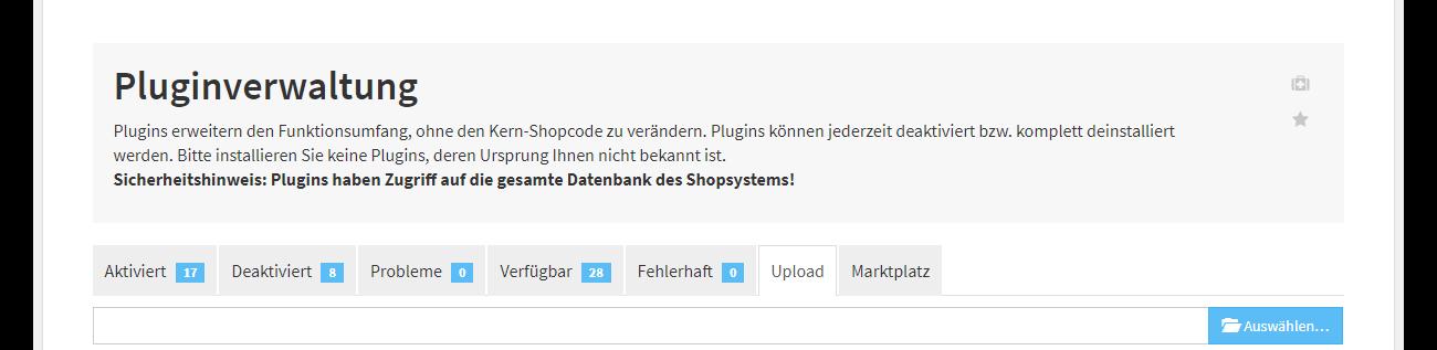 Plugin Upload