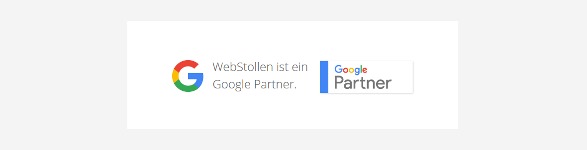 WebStollen ist zertifizierter Google Partner (Adwords, Shopping)